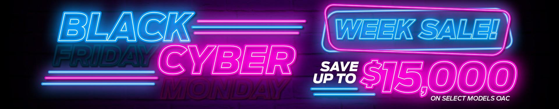 Black Cyber Week Sale!